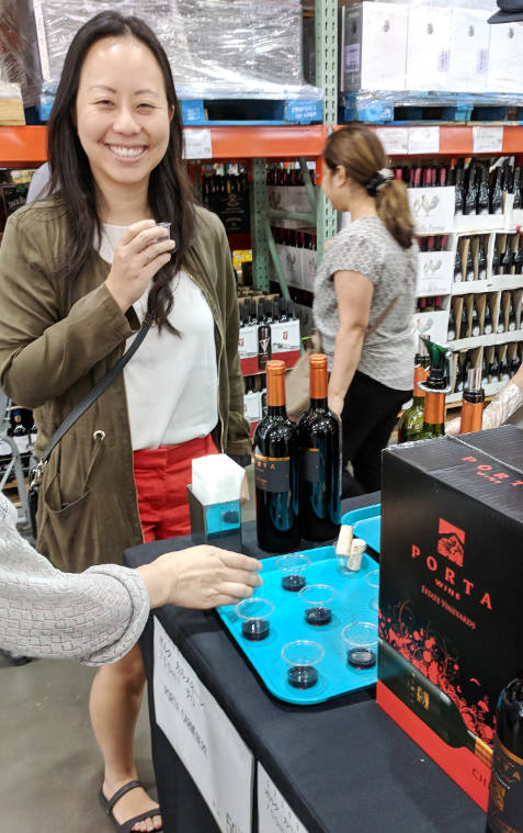 Nadia Wine Tasting at Costco Kawasaki Tokyo Japan 03