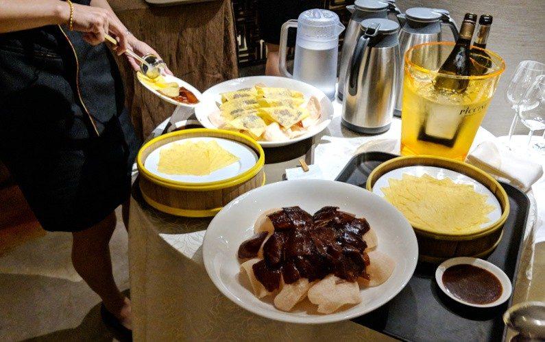 Peking Duck Preparation Wah Lok Singapore