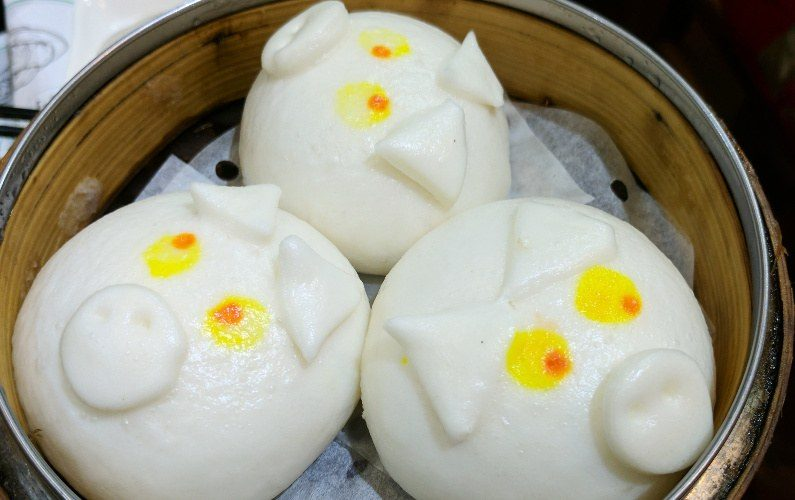 Pig Custard Bun Dim Dim Sum Hong Kong China 02