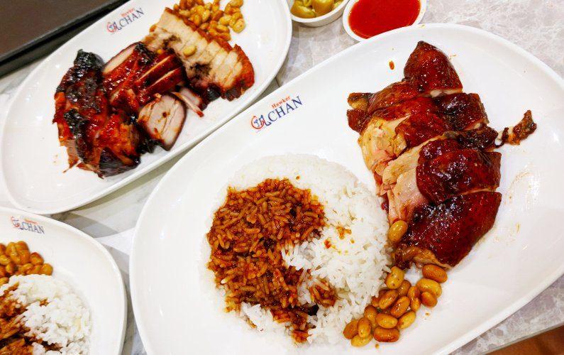 Plates of Roasted Meats Liao Fan Hong Kong Singapore