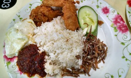 Eat Singapore Nasi Lemak at International Muslim Food Stall