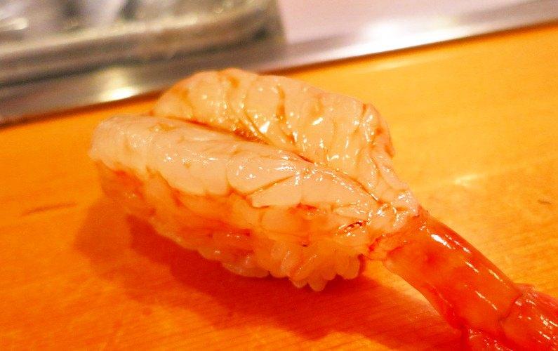 Shrimp Nigiri Sushi Dai Tokyo Japan