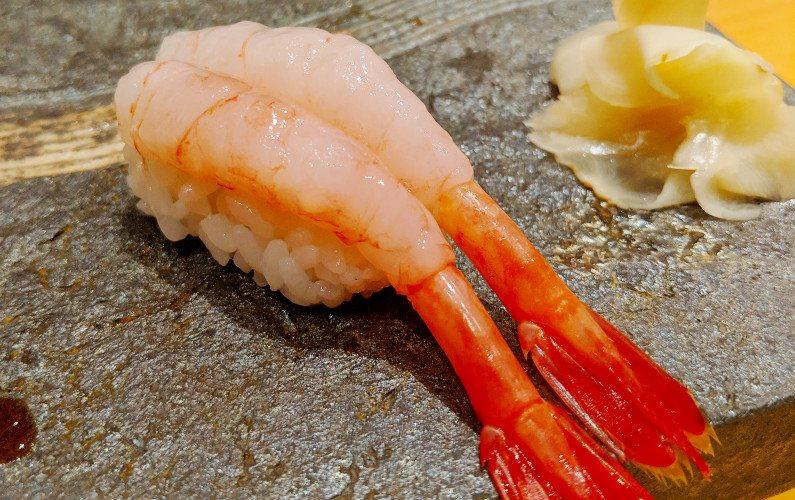 Shrimp Nigiri Tsukiji Sushiko Jin Signage Roppongi Tokyo Japan 03