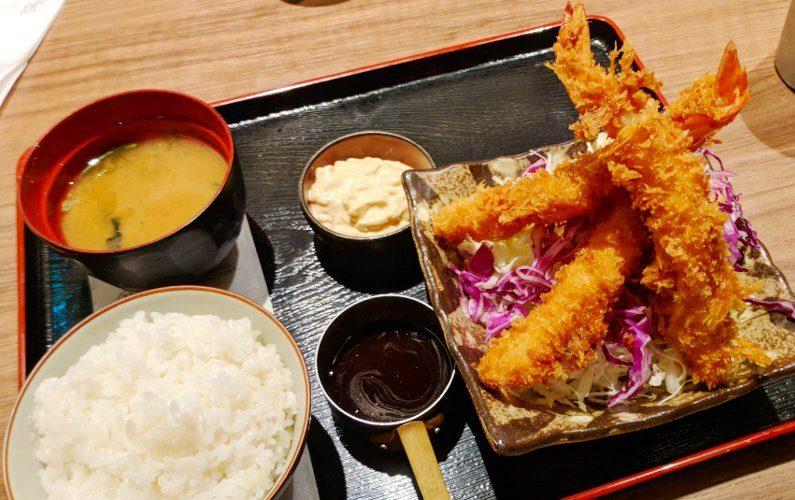 Shrimp Tempura Plate Hamburg Steak Keisuke Singapore