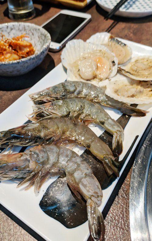 Shrimp and Scallop Yakiniku Heijoen Singapore