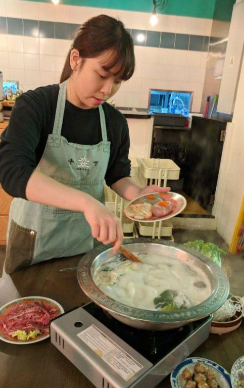 Staff Helping Cook Suppa Hong Kong China
