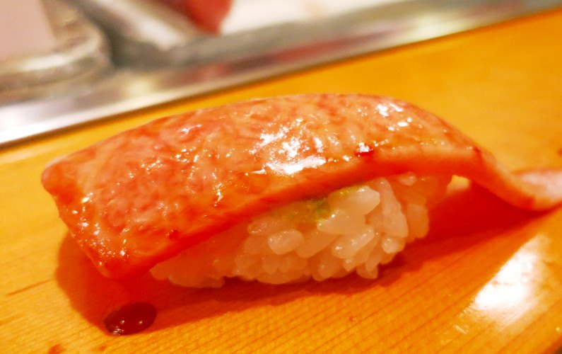 Tuna Nigiri Sushi Dai Tokyo Japan