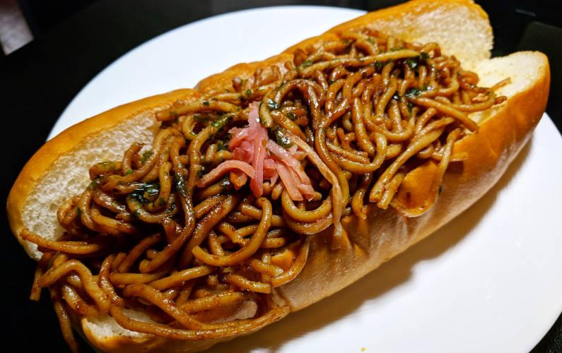 plated noodle bun 711 tokyo japan
