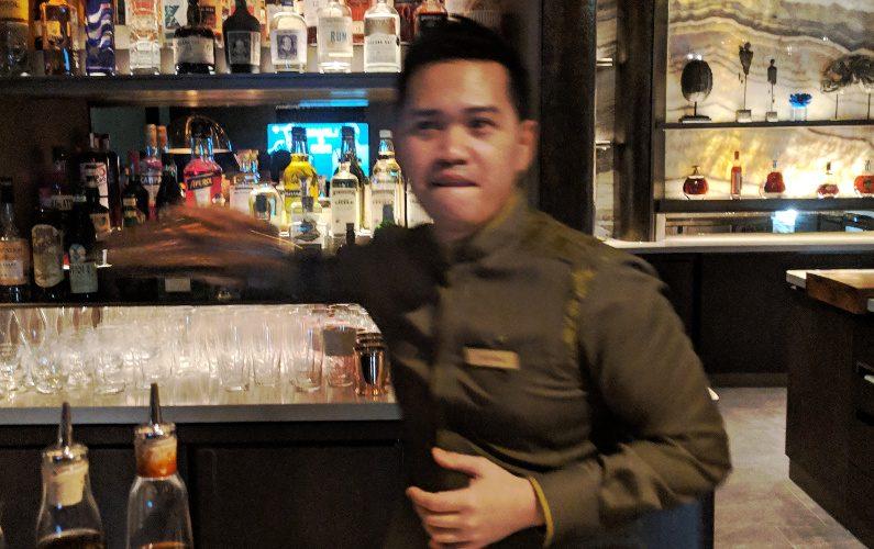 Bartender at Work Mo Bar Singapore