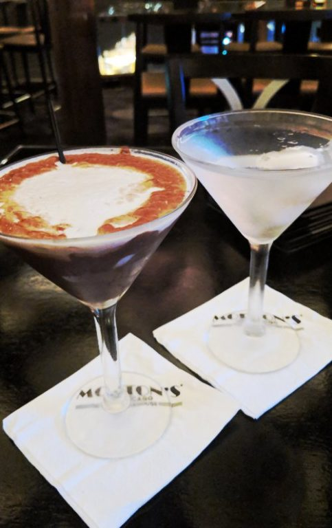 Chocolate and Lychee Martini Mortons Bar Singapore