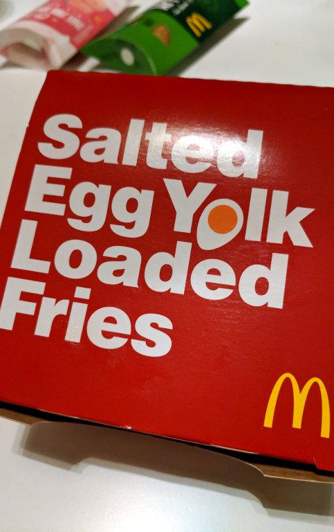 McDonalds 2019 salted egg yolk fries
