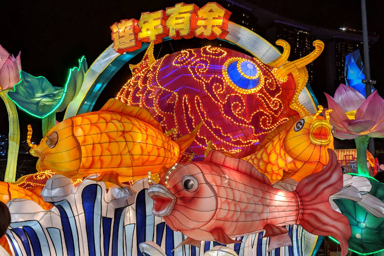 Singapore River Hongbao CNY 2019 Fish Lanter