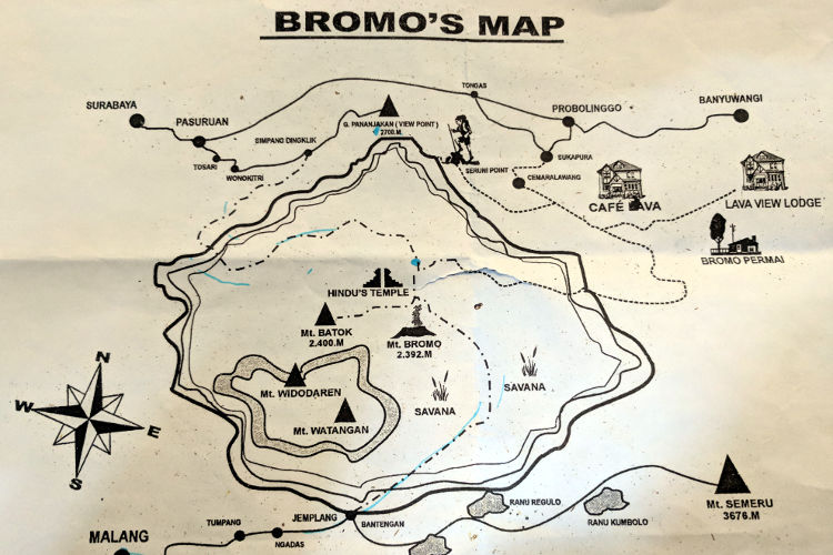 Map Bromo Sunrise