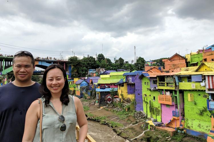 Nadia and JM Kampung Warna Warni Jodipan