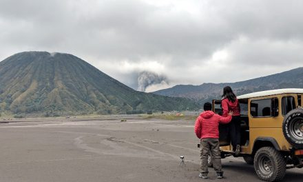 Playing in the Sand Dunes of Bromo