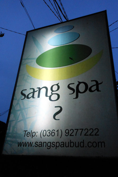 Sign Sang Spa Bali
