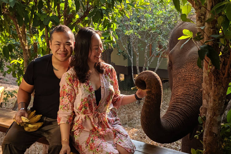 Chiang Mai Chai Lai Orchid Nadia and Jm and Elephant 03