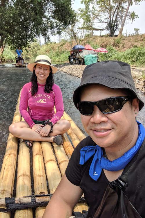 Chiang Mai Wang River Nadia and JM 02