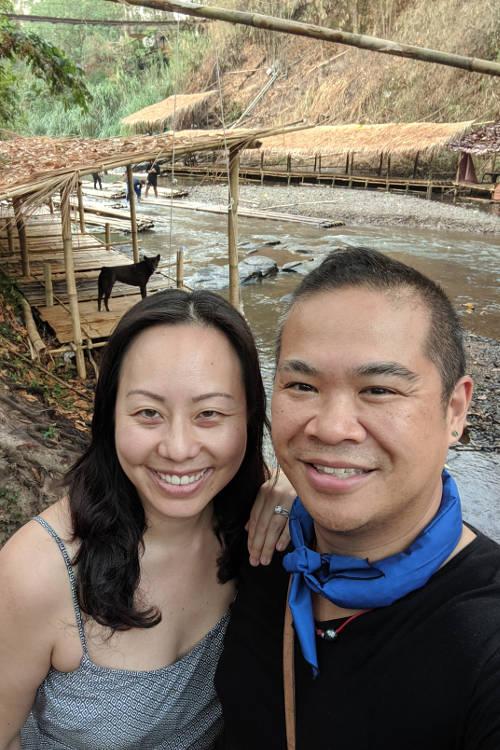 Chiang Mai Wang River Nadia and JM