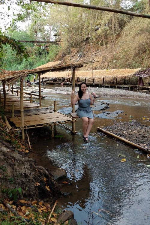 Chiang Mai Wang River Nadia on Swing