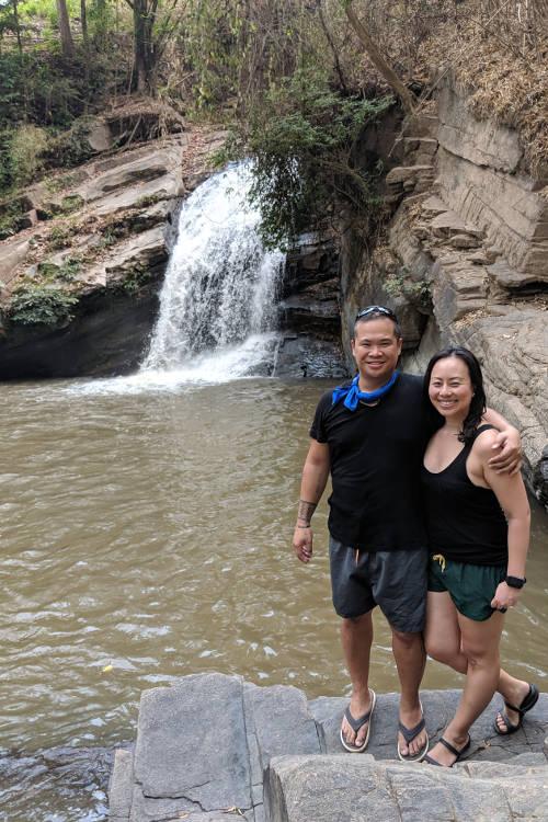 Chiang Mai Waterfall Nadia and JM 03