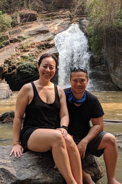 Chiang Mai Waterfall Nadia and JM