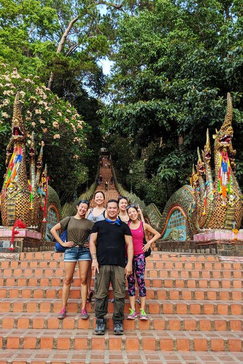 Nadia JM Friends Visiting Wat Phrathat Doi Suthep Chiang Mai Thailand