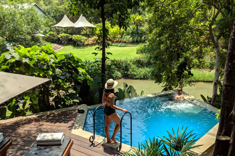 Staying at Rosewood's Waterfall Pool Villa Luang Prabang