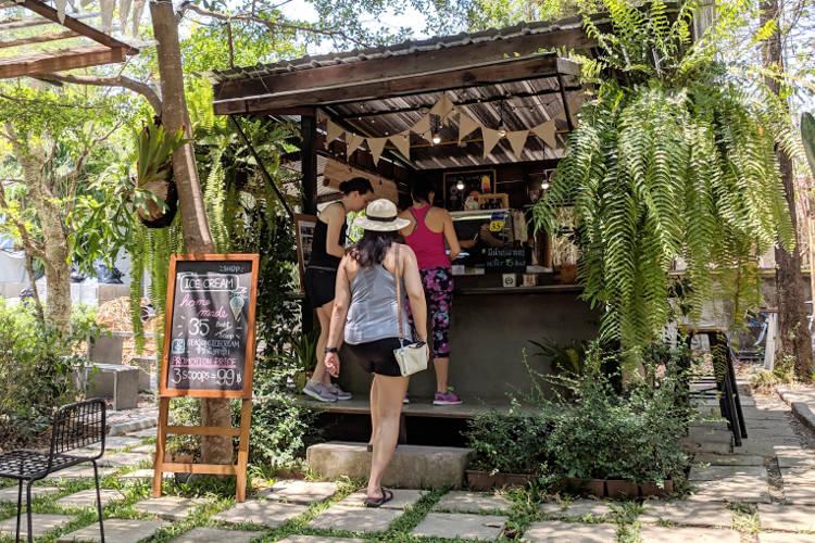 Nadia Walking Around Artist Village Chiang Mai Thailand