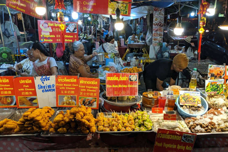 Food Stall Saturday Night Market Chiang Mai Thailand