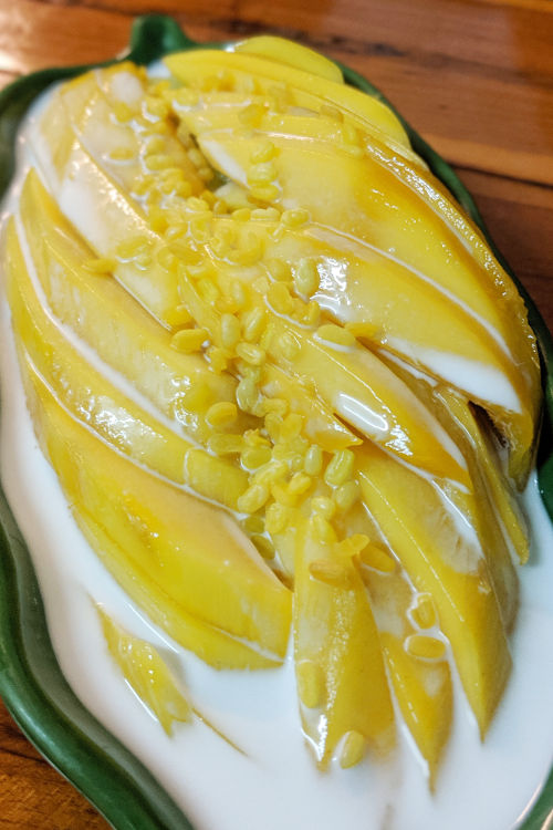 Mango Sticky Rice Cooking Love Chiang Mai Thailand