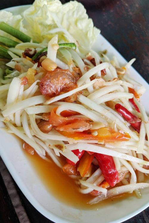 Papaya Salad Galae Chiang Mai Thailand