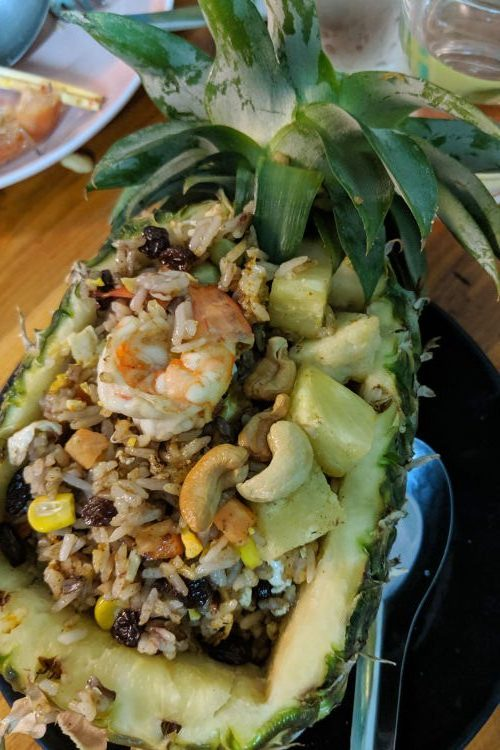 Pineapple Fried Rice Cooking Love Chiang Mai Thailand