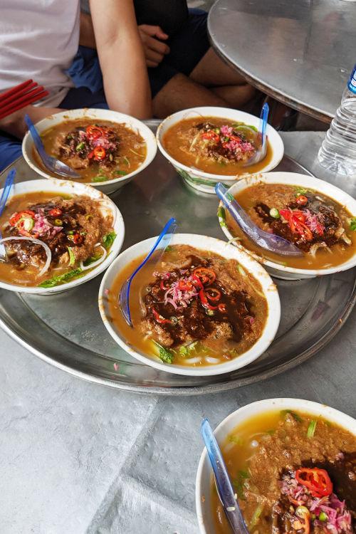 Reliving Bourdains Assam Laksa Scene Air Itam Penang Malaysia