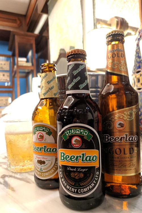 Beer at River Villa Rosewood Luang Prabang 2019