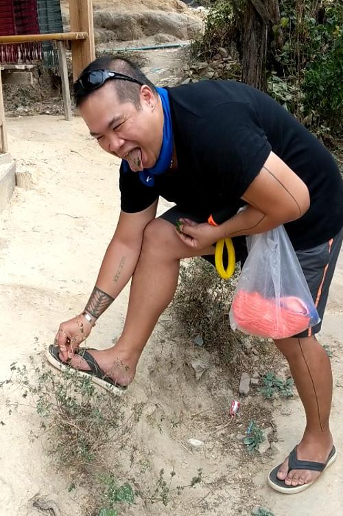 JM at Hill Village Applying Medicinal Plant Chiang Mai Thailand 2019