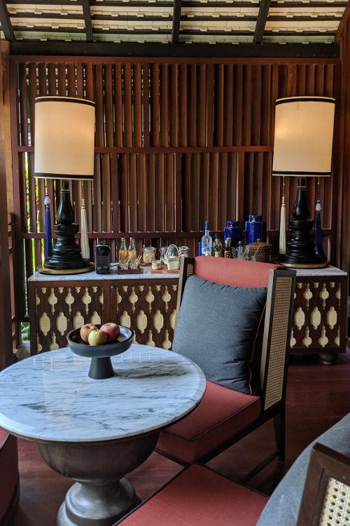 Living Area Villa Rosewood Luang Prabang 2019