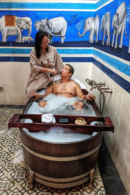 Nadia JM Bathtub Villa Rosewood Luang Prabang 2019