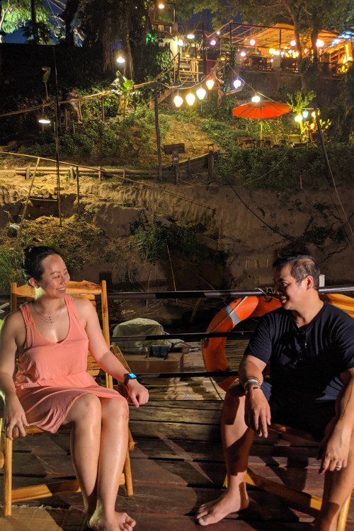 Nadia and JM Sa Sa Sunset Cruise Luang Prabang Laos 2019