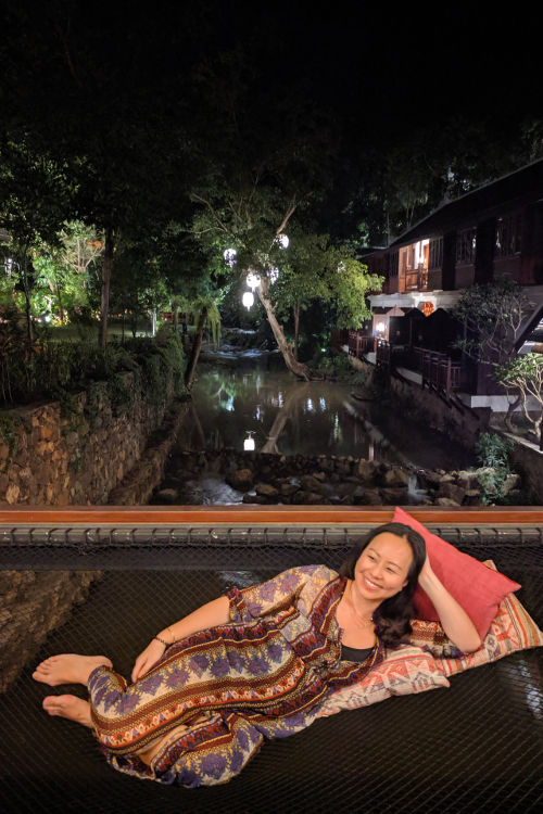 Nadia at Night Luang Prabang Laos 2019