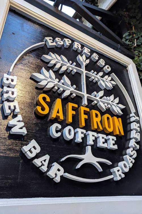 Saffron Signage Luang Prabang Laos 2019
